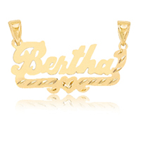 Personalized name plates oroking largest jewelry superstore handmade personalized name plate made to your specifications in metal of your choice sku aloadofball Image collections
