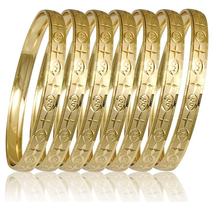 0909e2340dca8 Ladies Yellow 7-day Bangle Bracelet (Semanario) 6mm Wide (S, M, L ...