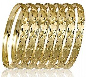 Las Yellow 7 Day Bangle Bracelet Semanario 6mm Wide S M L