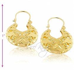 Filigree Basket Earrings In 18kt Oro Laminado Gold Filled Sku Le001 E1