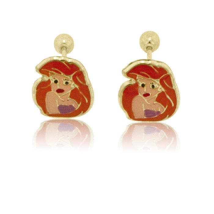 14k yellow gold mermaid stud earrings ebay